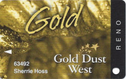 Gold Dust West Casino Reno, NV - Slot Card - No Copyright Date - Casino Cards