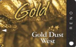 Gold Dust West Casino Reno, NV - Slot Card - Copyright 2008  (BLANK) - Casino Cards