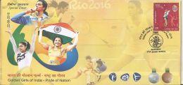Special Cover India ,Rio 2016,Golden Girls Of India P V Sindhu, Badminton, Ms Sakshi Malik, Wrestling,Women, Dipa Karmar