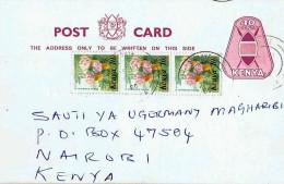 Kenia / Kenya - Ganzsache Postkarte Echt Gelaufen / Postcard Used  (N889) - Kenia (1963-...)