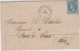 RHONE LAC 1870 ST GEORGES DE RENEINS / LY;MAC CONVOYEUR STATION FERROVIAIRE INDICE 10 COTE 65 EUROS - 1849-1876: Klassik