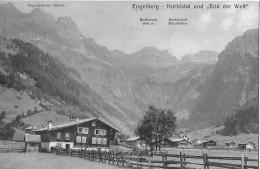 """ENGELBERG → Horbistal Und +End Der Welt"""" Schöner Lichtruck Ca.1920 - OW Obwalden"""