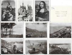 Lot De 45 Mini Photos De Voyages (7 X 9 Cm) - France - Tampon Ecole Française De Physiothérapie - Reproductions