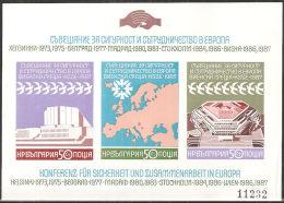 Bulgaria 1987 BF Nuovo** - Mi.176B  Yv.150ND - Blocchi & Foglietti