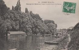 POISSY -78- GARAGE DE BATEAUX DANS LE PETIT BRAS DE SEINE - Poissy