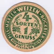SOUS-BOCK PILS MARZEN WEIZEN BOCKBIER BRAUERIE SCHWARTZ STORCHEN SPEYER / RHIN 4 SORTEN 1 GENUSS - Sous-bocks