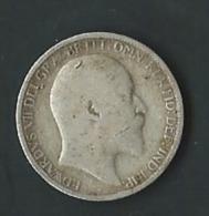 GRANDE BRETAGNE. 6 PENCE 1907 .EDWARD VII .ARGENT  Pia20102 - 1902-1971: Postviktorianische Münzen