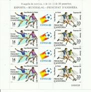 HOJA BLOQUE ANDORRA EDIFIL 159/60  MNH  ** - Coupe Du Monde