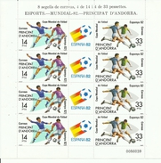 HOJA BLOQUE ANDORRA EDIFIL 159/60  MNH  ** - 1982 – Espagne