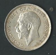 GRANDE BRETAGNE PIECE ARGENT 1 SHILLING GEORGES V 1916    Pia20205 - 1902-1971 : Monedas Post-Victorianas