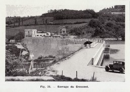 1949 - Iconographie Documentaire - Saint-Germain-des-Champs (Yonne) - Le Barrage Du Crescent - FRANCO DE PORT - Vieux Papiers