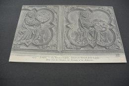 PK1393- Paris - La Sainte-Chapelle Portail De La Loggia -Dieu Crea Les Oiseaux ;les Poissons Et Les Animaux - France
