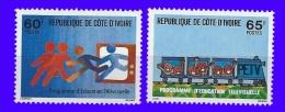 Côte D´Ivoire N°467-468  Neuf** Sans Charnière - Côte D'Ivoire (1960-...)