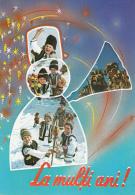 New Year Romanian Traditions, Snowman Fantasy Postcard - Kostums