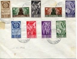 14103 Poland,poczta Osiedli Polskich Italii,complete Set 9 Stamps 11.04.1946 Postmark Barletta Trani - 1939-44: World War Two