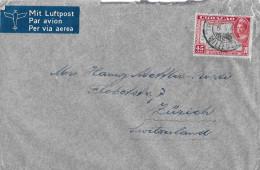CURACAO - SWITZERLAND/ZÜRICH → Letter Of 5 February 1945  ►with Airmail◄ - Niederländische Antillen, Curaçao, Aruba