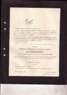 BOUVIGNES LIEGE Hadelin De PIERPONT Veuf MASSART 1851-1926 Famille De KERCHOVE D'EXAERDE WIERDE Doodsbrief - Obituary Notices