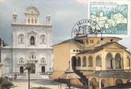 ITALIE CARTE MAXIMUM NUM.YVERT 1711 MONASTERE DE SACRO MONTE DI VARALLO - Cartas Máxima