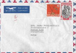 GUAYAQUIL ECUADOR - SUIZA/ZÜRICH→ Letter With Airmail   ►PAR AVION◄ - Equateur