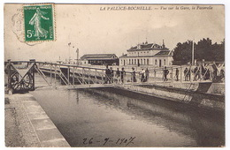 LA PALLICE ROCHELLE  Vue Sur La Gare La Passerelle - La Rochelle