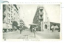 Vintage Tunisia Tunis Avenue De Paris Pc Unused. Animated, Written But Not Posted. WW2? - Tunisia