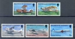Mua098 TRANSPORT VLIEGTUIGEN PLANES FLUGZEUG GUERNSEY 1973 PF/MNH VANAF1EURO - Vliegtuigen