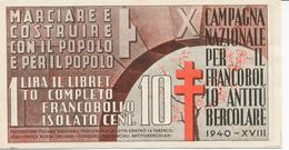 Erinnofili: Libretto Con Sette Vignette Della Campagna Del 1940 - Unclassified