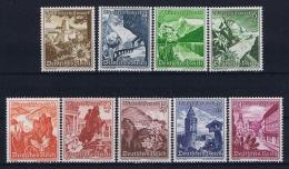 Deutsches Reich 1938 Mi 675 - 683 Winterhilfe  MNH/**/postfrisch/neuf Sans Charniere