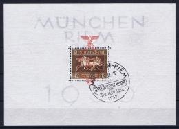 Deutsches Reich 1936 Mi Block Nr 10 München-Riem  Cancelled