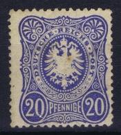 Deutsches Reich 1875 Mi Nr 34 MNH/**/postfrisch/neuf Sans Charniere Small Brown Spot