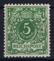 Deutsches Reich 1889 Mi Nr 46 B Dunkel Geld Grün MH/* Falz/ Charniere