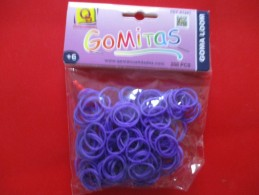Crazy Loom Elastique Violet ( 200 Pieces+  Attaches+1 Crochet) NEUF - Creative Hobbies
