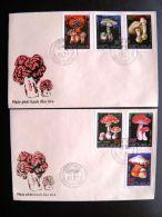 2 Fdc Covers Special Cancel From Vietnam Mushrooms Champignon Pilze Mushroom 1991 - Vietnam