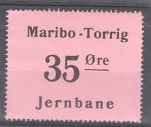 Denmark Local Railway Parcel Maribo-Torrig 35 Oere.MNH Trains/Railways/Eisenbahnmarke - Trains