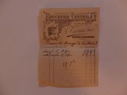 Facture De La Boucherie Centrale J. Civrais à Bourbon-l'Archambault. - Non Classés