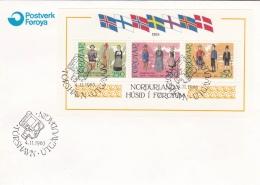 Faroe Islands FDC 1983 Husid Minisheet (SKO14-2A) - Féroé (Iles)