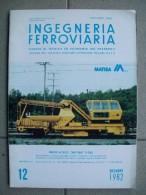 INGEGNERIA FERROVIARIA Dicembre 1982 - Motori