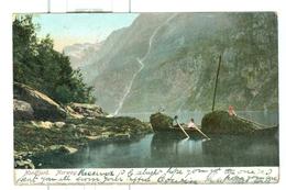 1907 Norway Nordfjord Pc Used Iron Mountain Michigan USA To UK! - Norvège