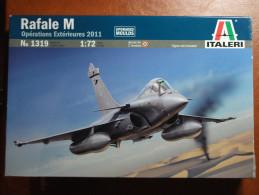 Maquette Plastique - Avion Rafale M Opérations Extérieures 2011 Au 1/72 - Italeri N°1319 - Avions