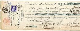 Ernest LEMAN Tournai - Pétrole, Denrées Coloniales. 25 Centimes Bleu Perforé Sur Document Rare. - Other