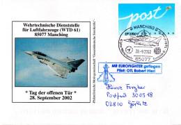 """(BWL) BRD Sonderumschlag Bundeswehr """"Wehrtechnische Dienststelle Für Luftfahrzeuge (WTD61)"""" SSt 28.9.2002 MANCHING - BRD"""
