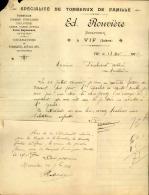 Thématique « POMPES FUNEBRES » - Document Commercial (petit Format) à Entête De Lettre – A Voir - N° 19103 - Artesanos
