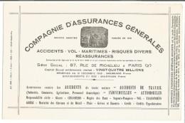 BUVARD COMPAGNIE D'ASSURANCES GENERALES - Blotters