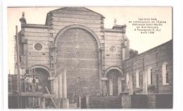 FR66 PERPIGNAN - Construction De L´église Du Bon Secours En Avril 1929 - Ouvriers - Animée - Superbe - Perpignan