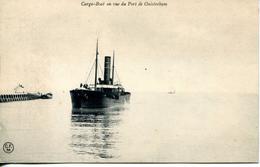 N°164 K -cpa Ouistreham -cargo Boat- - Commerce