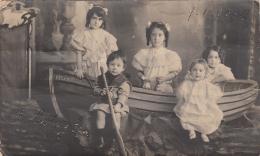 Uruguay - Montevideo - Enfants - Carte-Photo  1903 - Barque Relampago - Photographe Fotografia Relampago - Uruguay