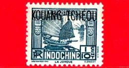 Nuovo - MNH - KOUANG TCHEOU - INDOCINA - 1937 - Junk - La Jonque -  1⁄10 - Usati