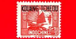 Nuovo - MNH - KOUANG TCHEOU - INDOCINA - 1937 - Junk - La Jonque -  2⁄5 - Usati