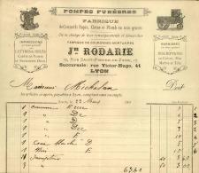 Thématique « POMPES FUNEBRES » - Document Commercial (petit Format) à Entête De Lettre - A Voir – N° 19116 - Artesanos