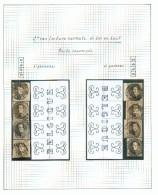 Reconstitution De Toutes Les Lettres En Filigranes Des 1er Et 2ème Panneaux - BELGIQUE (interpanneau Lecture Recto Renve - 1851-1857 Medallones (6/8)